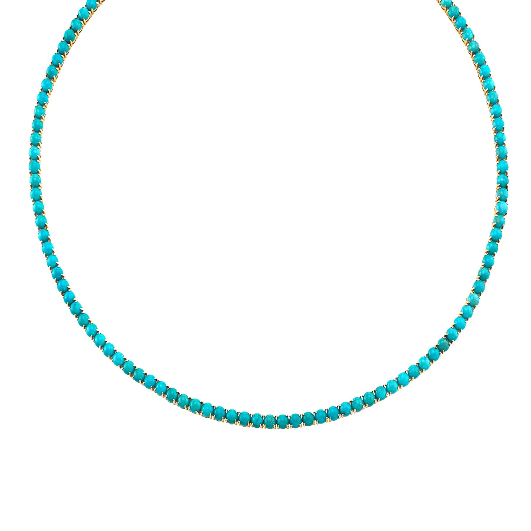 PERFECT TURQUOISE TENNIS NECKLACE
