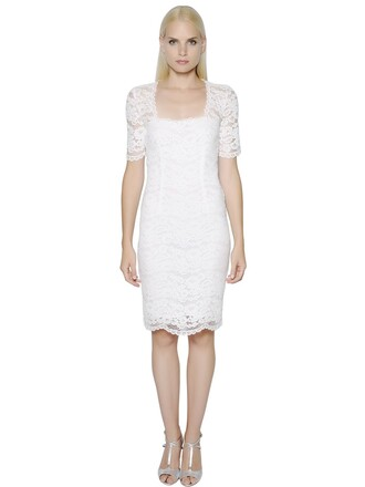 dress lace dress short lace cotton white