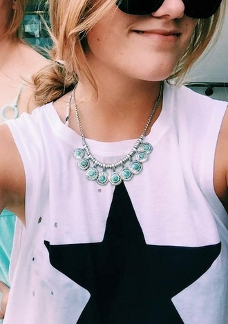 jewels lf stores necklace turquoise silver coin necklace