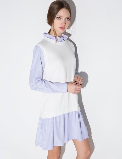6fc8faf3d7d0 dress stripe vest shirt dress shirt dress striped dress school girl  pixiemarket girly dress summer dress