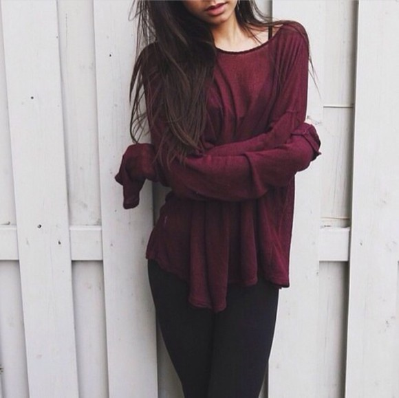 sweater burgundy burgundy sweater long sleeve oversized long sleeve dress