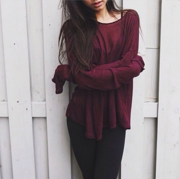Maroon Sweater Outfit - Sweater Vest