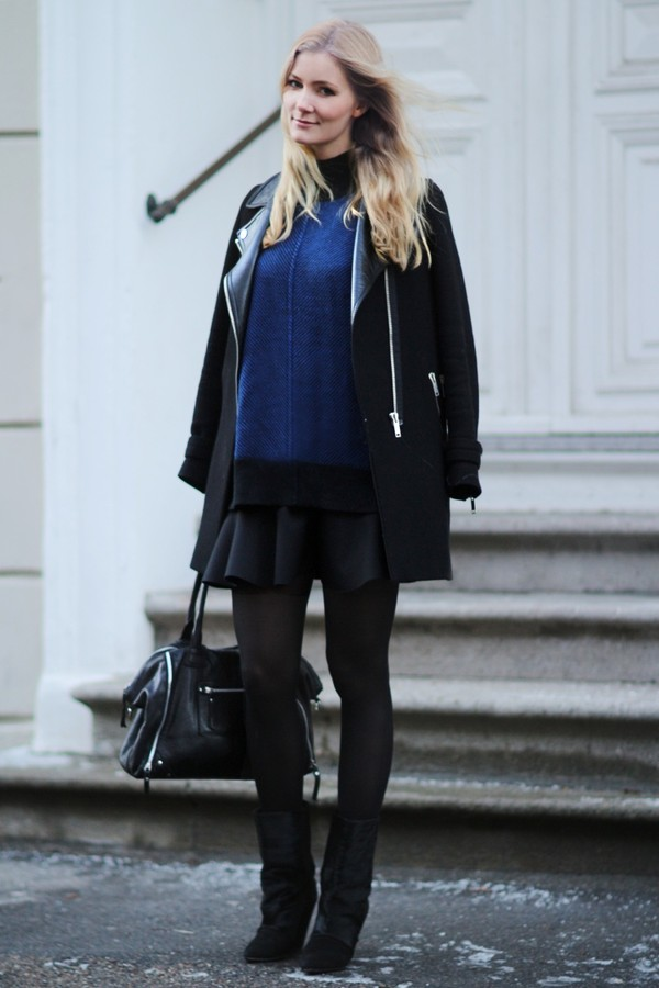 passions for fashion coat sweater skirt shoes bag