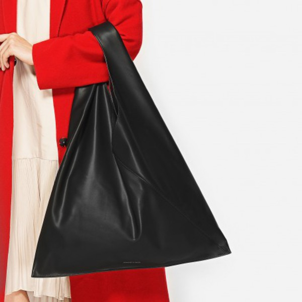 bag slouchy slouchy bag tote bag black bag black purse black handbag fall accessories charles and keith black black leather