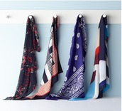 scarf,floral,stripes,silk scarf,printed scarf,bandana,bandana print