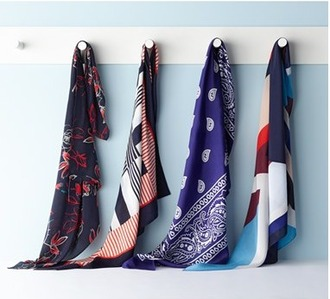 scarf floral stripes silk scarf printed scarf bandana bandana print