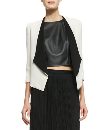 Alice   Olivia Oliver Two-Tone Open Blazer