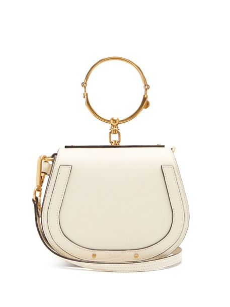 Chloe cross bag leather suede cream