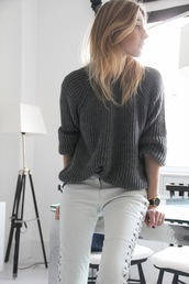 camille over the rainbow,sweater,pants,jewels