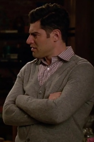 sweater schmidt new girl menswear max greenfield grey platform shoes shirt
