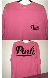 sweater,pink by victorias secret