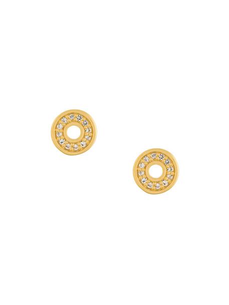 Astley Clarke mini open women earrings stud earrings gold grey metallic jewels