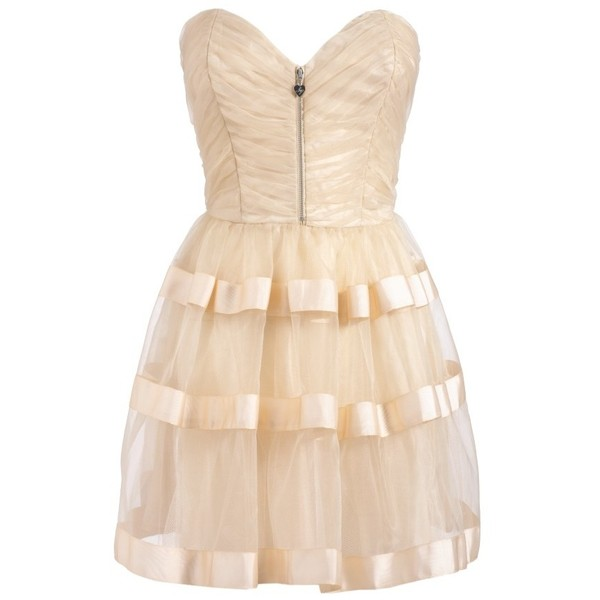Lipsy Gold Party Prom Dress - On Sale! - glitzyangel - Polyvore