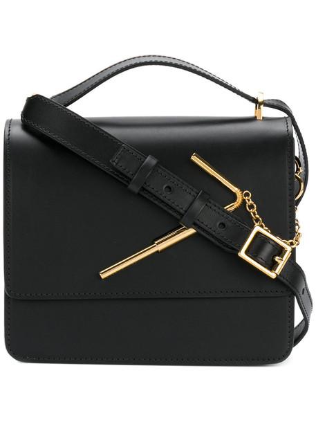 Sophie Hulme satchel women gold leather black bag
