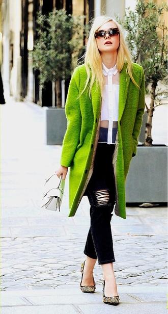 blouse coat elle fanning