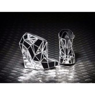 style high heel mirror high heels mirror necklace silver high heels