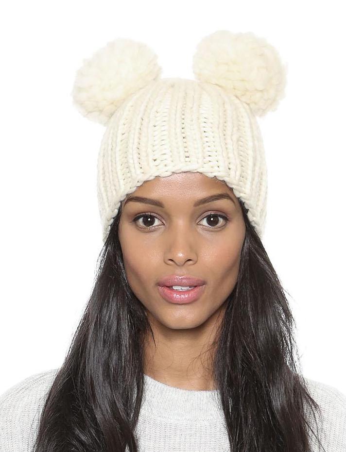 chapeau en tricot -blanc