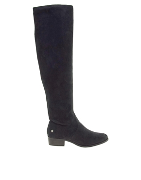 Blink | Blink Over The Knee Black Flat Boots at ASOS