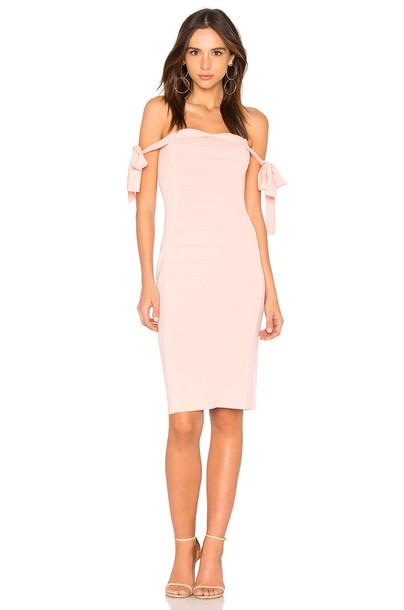 Endless Rose dress off the shoulder pink
