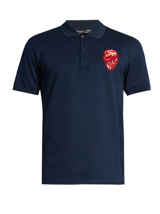 shirt polo shirt skull top
