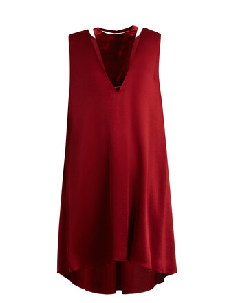 dress satin dress velvet satin burgundy