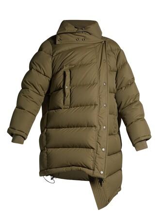 coat quilted khaki