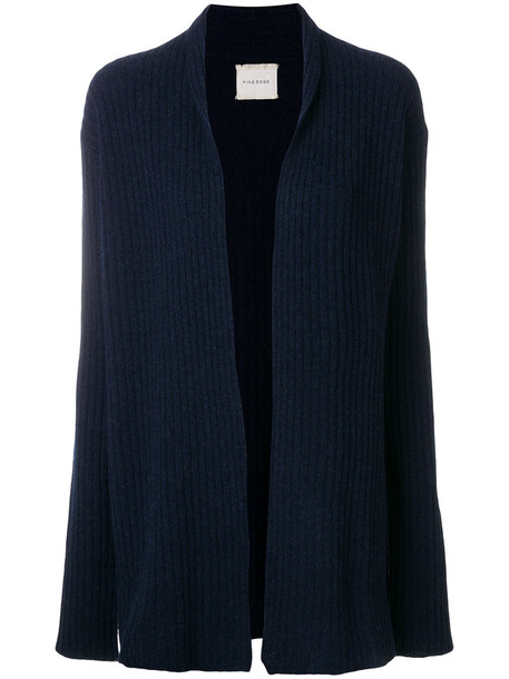Fine Edge cardigan cardigan women blue wool knit sweater