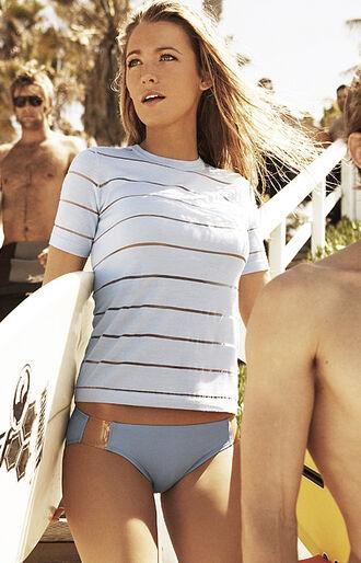 shirt top white summer bikini stripes transparent sheer see through surf bikini bottoms beach sexy rash guard summer outfits swimwear summer sports