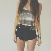 tank top,cute,india love,shirt,moon#t-shirt#blackandwhite#,grey,black,white,black and white,black and white blouse,t-shirt,shorts,studs,crop tops,High waisted shorts,high waisted denim shorts,black denim,black shorts,style,girly,indie,moon,short,hippie,hipster,girl,top,moontop,beautiful,young,summer,hair,ombre,crop,moon phases,hot,blogger,nice,lovely,sweet,clothes,tumblr outfit,light pink,cute top,uk website,uk store,phases,grafic,edgy,pants,summer shorts