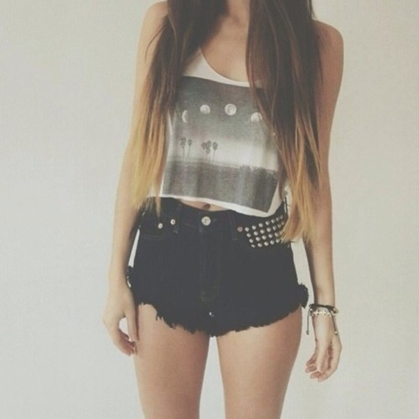 Shorts: tank top, cute, india love, tank top, grey, black, white ...