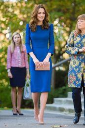 shoes,kate middleton,pumps,midi dress,blue,celebrity