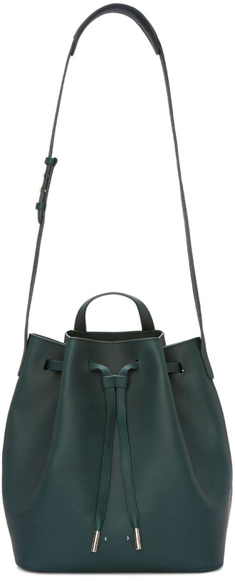 bag bucket bag green