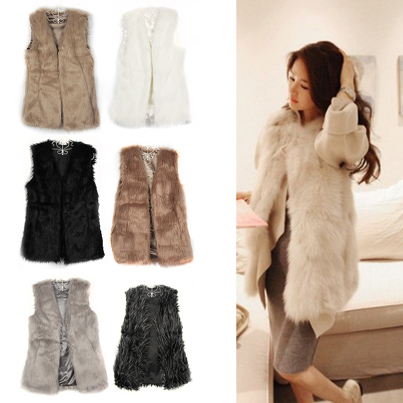 Chic Lady Faux Fur Vest Winter Warm Coat Outwear Long Hair Jacket Waistcoat Tops Free shipping & Drop shipping HQ0002-in Fur & Faux Fur from Apparel & Accessories on Aliexpress.com