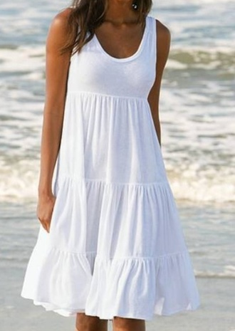 dress summer cotton white beach beach dress beachwear