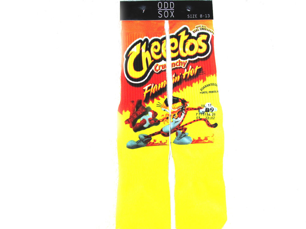 Flamin Hot Cheetos Loud Pak Odd Sox Urban Custom Footwear New Exclusive | eBay