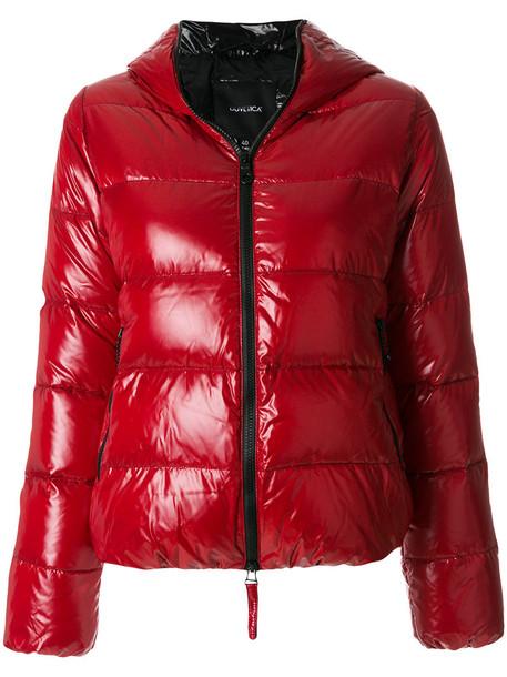 Duvetica jacket hooded jacket women red