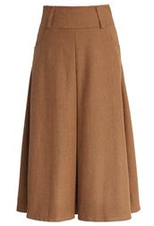 skirt,chicwish,full skirt,camel,wool blend