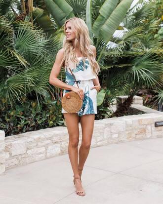 romper tumblr sandals sandal heels high heel sandals nude sandlas bag round bag summer outfits shoes