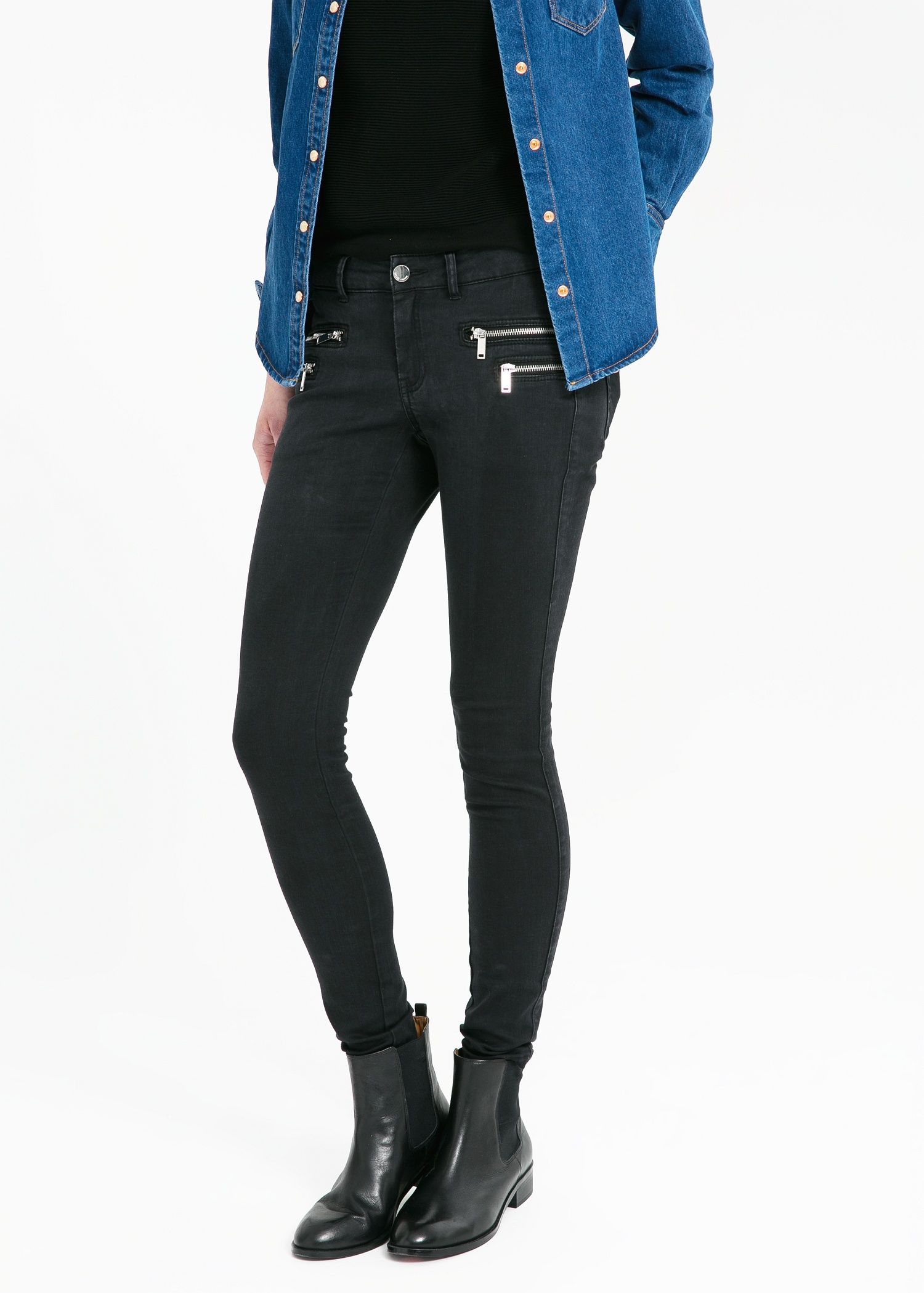 Skinny zippy jeans - Jeans for Women | MANGO