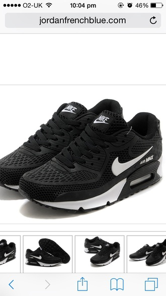 shoes black trainers nike air max nike air max 90 white fashion love cute girl trendy nike running shoes