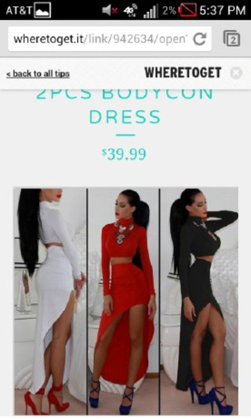 dress two-piece ponytail two piece dress set