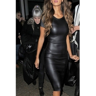 dress black dress black sexy dress leather dress