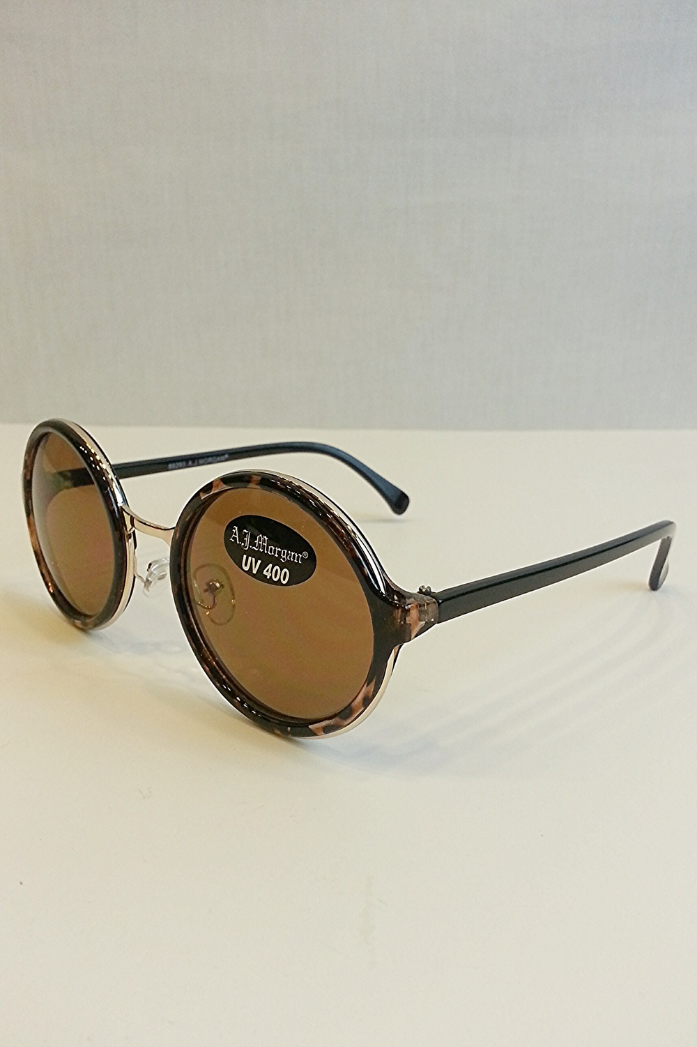 Occasion tortoise round frame sunglasses — simply chic