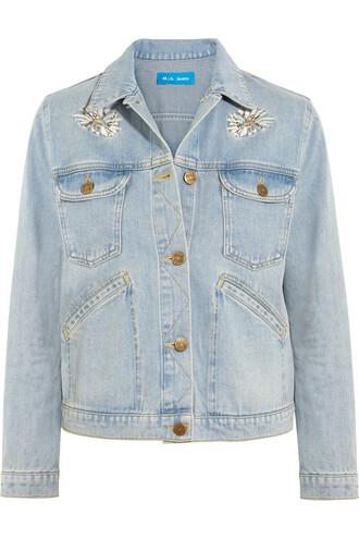 jacket denim jacket denim embroidered