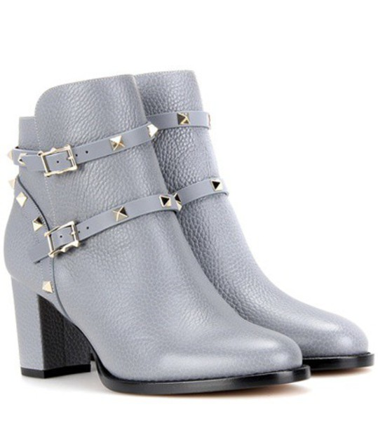 leather ankle boots boots ankle boots leather grey shoes