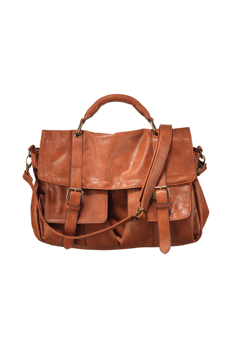 Sac cartable demi cognac pieces sur monshowroom.com