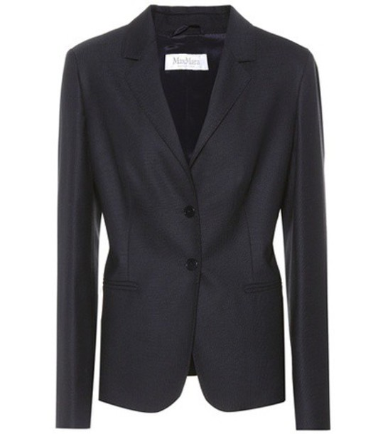 Max Mara Zac wool blazer in blue