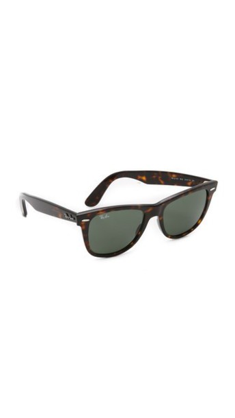 Ray-Ban Outsiders Oversized Wayfarer Sunglasses - Tortoise/Green