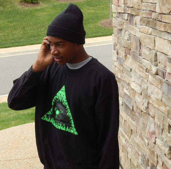 phone beanie sweater crewneck fire triangle pyramid stone