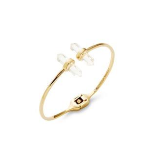 jewels gemstone designer gold gold bracelete gold jewelry crystal quartz crystal rebecca minkoff
